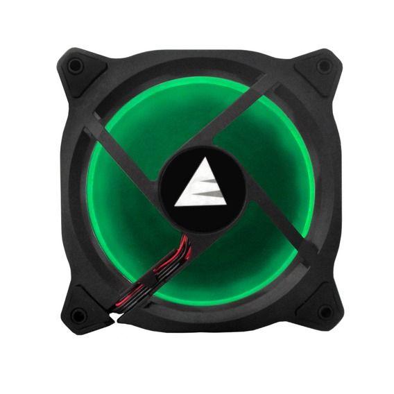 Fan BlueCase Gamer Ring 120mm Green LED - BFR05GCASE