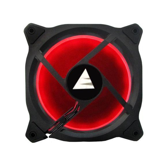 Fan BlueCase Gamer Ring 120mm Red LED - BFR05RCASE