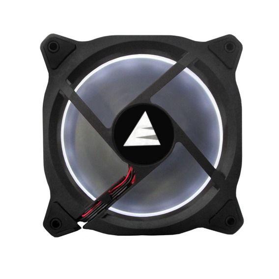 Fan BlueCase Gamer Ring 120mm White LED - BFR05WCASE