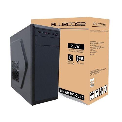 Gabinete Bluecase BG-2312 Preto c/ Fonte 230W - BG2312GCASE