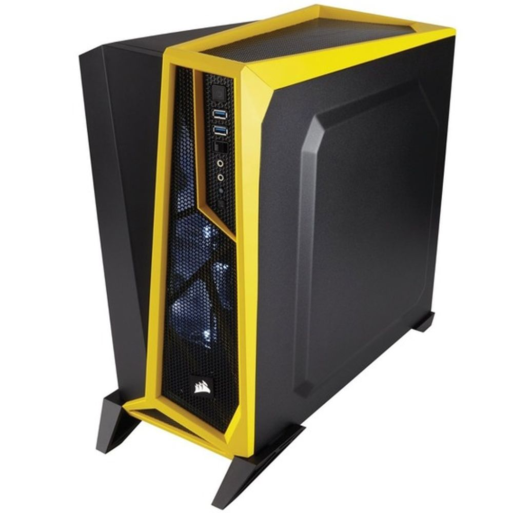 Yellow New ATX Mid Tower Computer Case