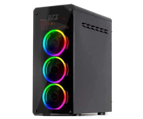 Gabinete DT3 Sports Gamer Andromeda Window Black RGB LED - 11011-4