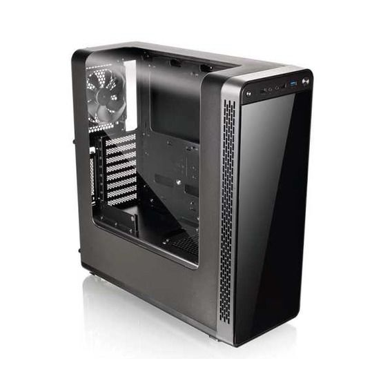 Gabinete Thermaltake View 27 Gull-Wing Window Black White LED - CA-1G7-00M1WN-WT