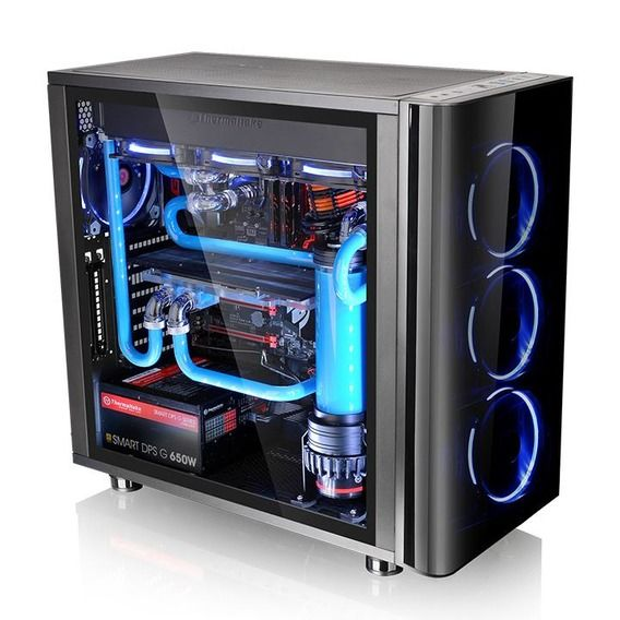 Gabinete Thermaltake View 31 TG Edition Window Black Blue LED - CA-1H8-00M1WN-00