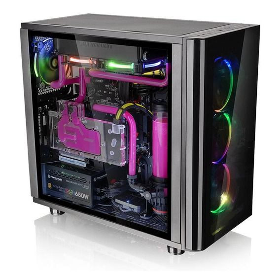 Gabinete Thermaltake View 31 TG Edition Window Black RGB - CA-1H8-00M1WN-01