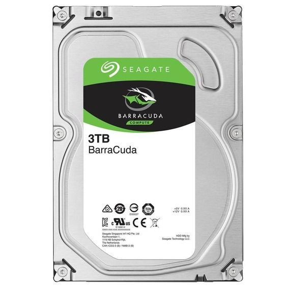 HD Seagate BarraCuda 3TB 64MB Cache 7200RPM Sata 3 - ST3000DM008