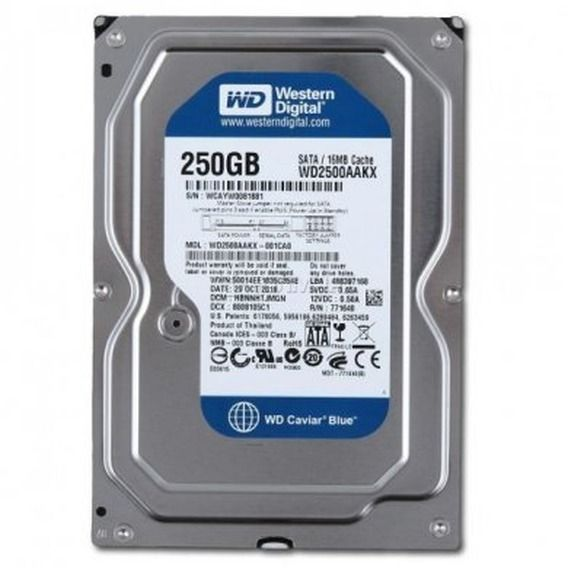 HD Western Digital WD Blue 250GB 16MB 7200RPM Sata III - WD2500AAKX