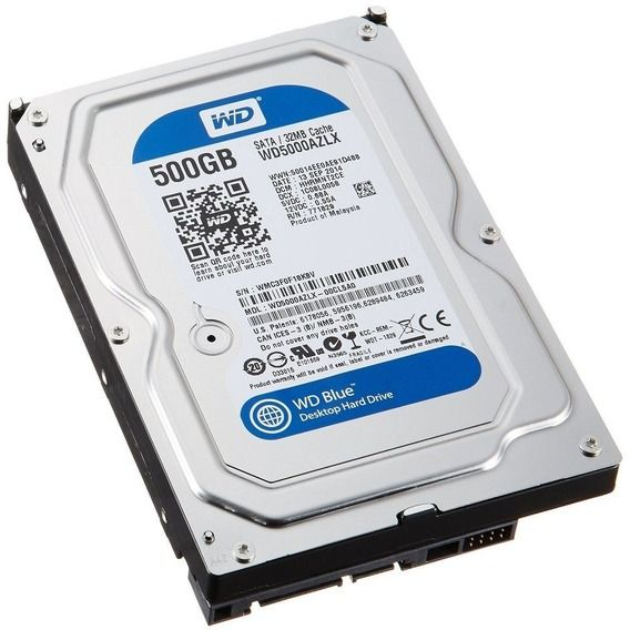 HD Western Digital WD Blue 500GB 32MB 7200RPM Sata III - WD5000AZLX