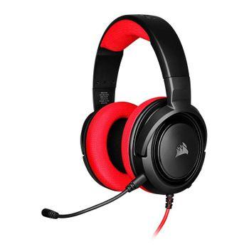 Headset Corsair Gamer HS35 Stereo Preto/Vermelho - CA-9011198-NA