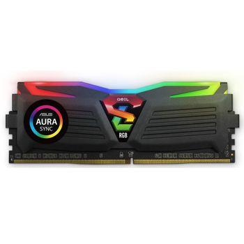 Memória Geil Super Luce Black RGB 8GB DDR4 3000MHz (1x8GB) - GLS48GB3000C16ASC