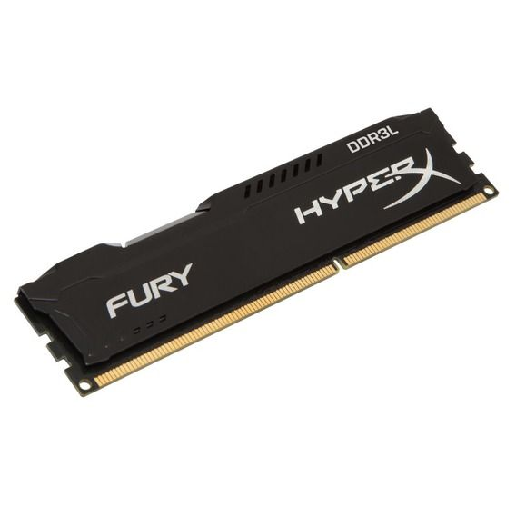 Memória Kingston HyperX Fury Black Series 4GB DDR3L 1600MHz (1x4GB) - HX316LC10FB/4
