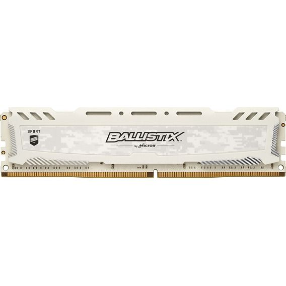 Memória Micron Ballistix Sport White 8GB DDR4 2400MHz (1x8GB) - BLS8G4D240FSCK