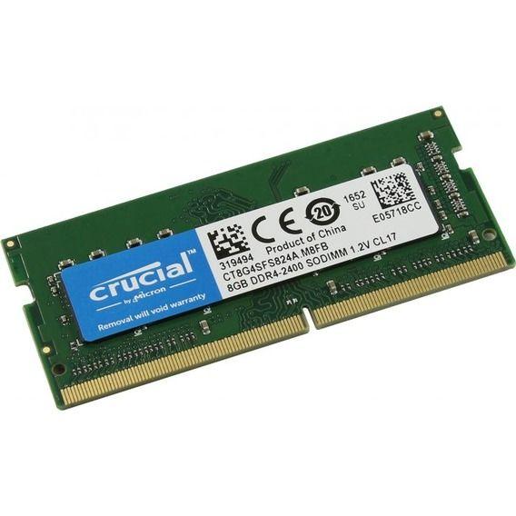 Memória Notebook Crucial 8GB D Memória Notebook Crucial 8GB DDR4 2400MHz (1x8GB) - CT8G4SFS