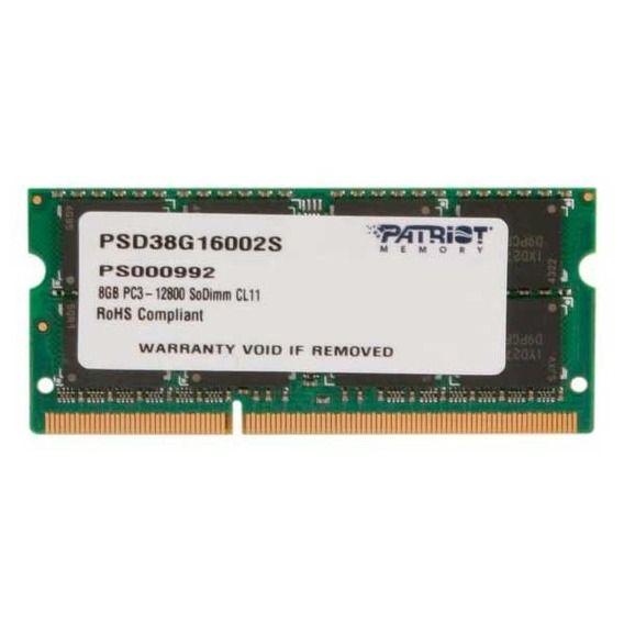 Memória Notebook Patriot Signature 8GB DDR3 1600MHz (1x8GB) - PSD38G16002S