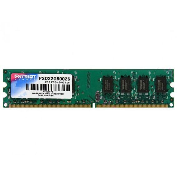 Memória Patriot 2GB DDR2 800MHz - PSD22G80026