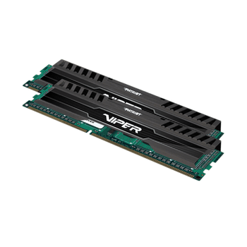 Memória Patriot Viper Black 8GB DDR3 1600MHz (2x4GB) - PV38G160C9K