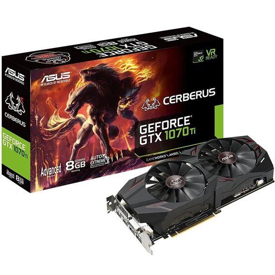 Placa de Vídeo Asus GeForce GT Placa de Vídeo Asus GeForce GTX 1070 Ti 8GB GDDR5 Cerberus -
