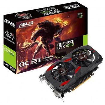 Placa de Vídeo Asus GeForce GTX 1050 2GB GDDR5 Cerberus - CERBERUS-GTX1050-O2G