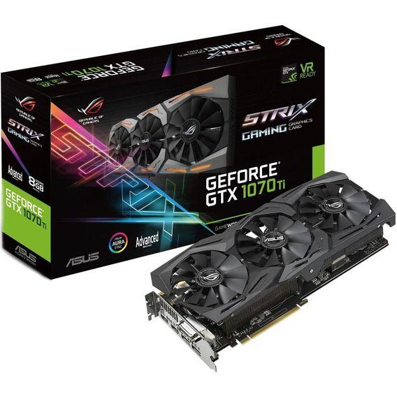 Placa de Vídeo Asus GeForce GTX 1070 Ti 8GB GDDR5 ROG Strix RGB-ROG-STRIX-GTX1070TI-A8G