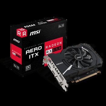 Placa de Vídeo MSI AMD Radeon RX 550 4GB GDDR5 OC Edition Mini-ITX - RX-550-AERO-ITX-4G-OC