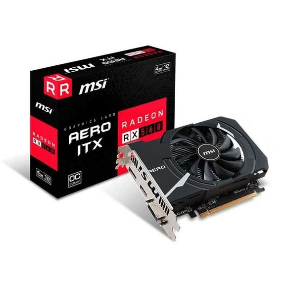 Placa de Vídeo MSI AMD Radeon RX 560 4GB GDDR5 OC Edition Mini-ITX - RX-560-AERO-ITX-4G-OC