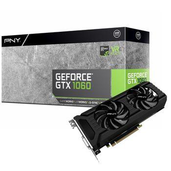 Placa de Vídeo PNY GeForce GTX1060 6GB GDDR5 - VCGGTX10606PB