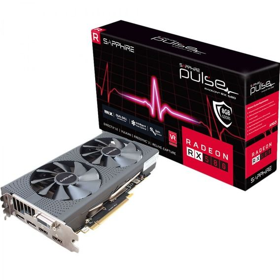 Placa de Vídeo Sapphire AMD Radeon RX 580 8GB GDDR5 Pulse Dual-X OC - 11265-05-20G