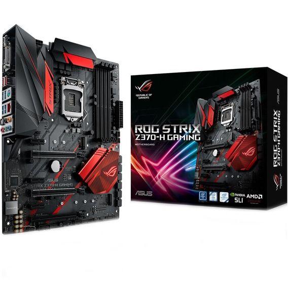 Placa Mãe Asus ROG Strix Z370-H Gaming Red LED - LGA1151