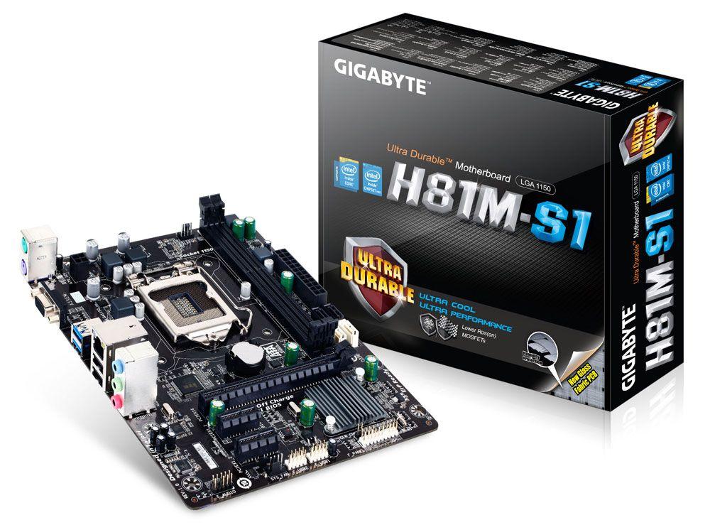 Placa Mãe Gigabyte GA-H81M-S1 - Socket LGA1150