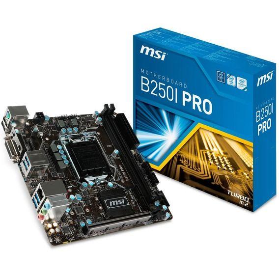 Placa Mãe MSI B250I Pro Mini-ITX - LGA1151