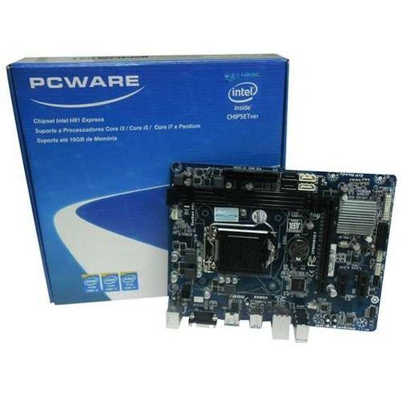 Placa Mãe PCWare IPM-H81-G1 - Socket LGA1150