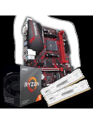 Kit Upgrade By Barr3l Rid3r - Ryzen 3600 + B450M Gaming + 2x8Gb Crucial Micron E-Die DDR4 3200Mhz