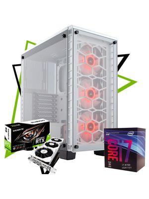 PC Gamer Glass Kill - Intel I7 8700 + 16Gb DDR4 + RTX 2080 + SSD M.2 240Gb + HD 1Tb