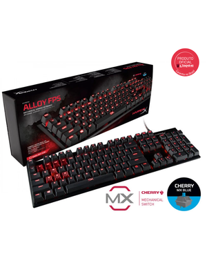 Teclado Gamer HyperX Alloy FPS Mecânico Cherry MX Blue US - HX-KB1BL1-NA/A4