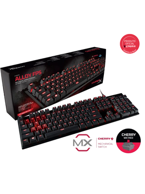 Teclado Gamer HyperX Alloy FPS Mecânico Cherry MX Red US - HX-KB1RD1-NA/A4
