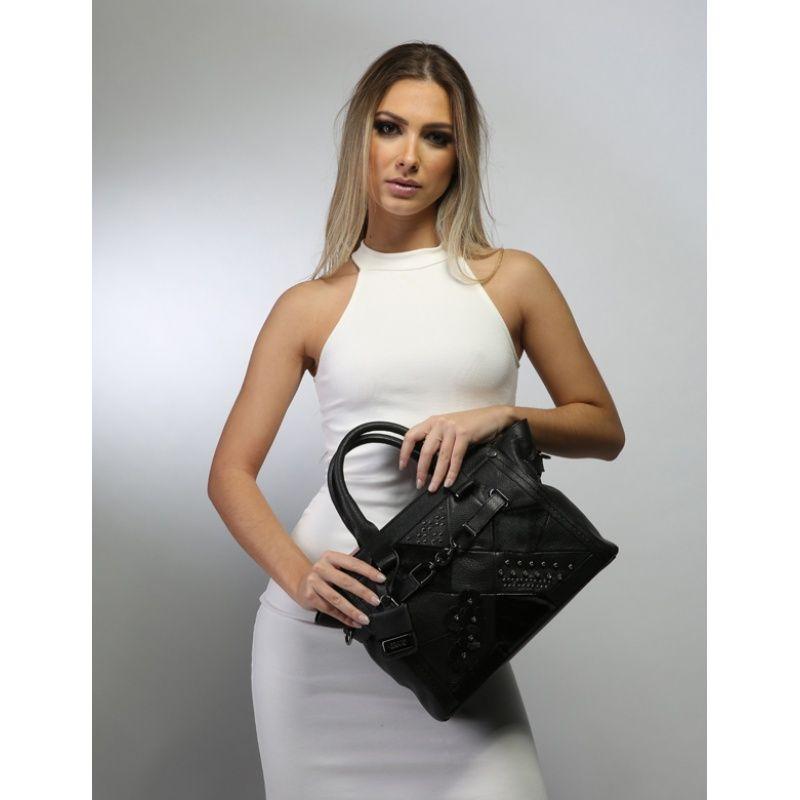 Bolsa de couro branca  Bellatrix 10554