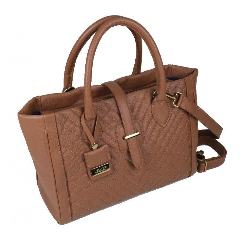 Bolsa de couro caramelo Cosette 10505