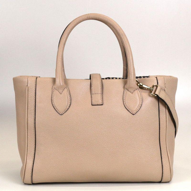 Bolsa de couro com trançado Cosette 10505
