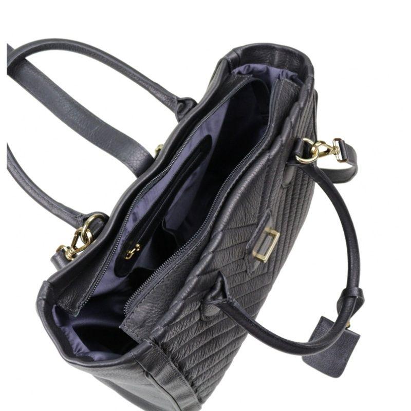Bolsa de couro preta Cosette 10505