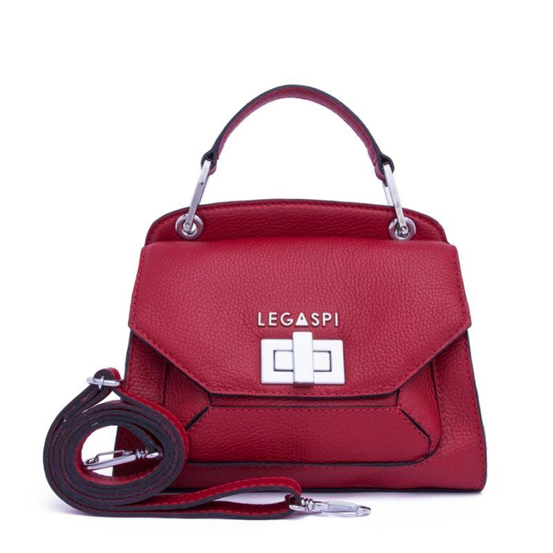 Bolsa de couro vermelha Atena 10502