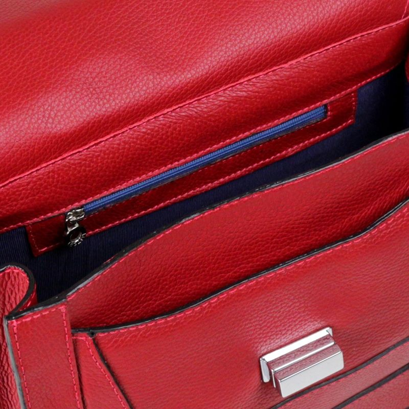 Bolsa de couro vermelho Minerva 10503