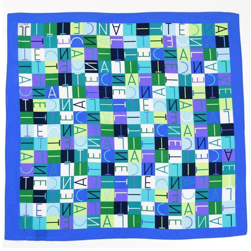 Lenço Italiano Azul  Quadrado