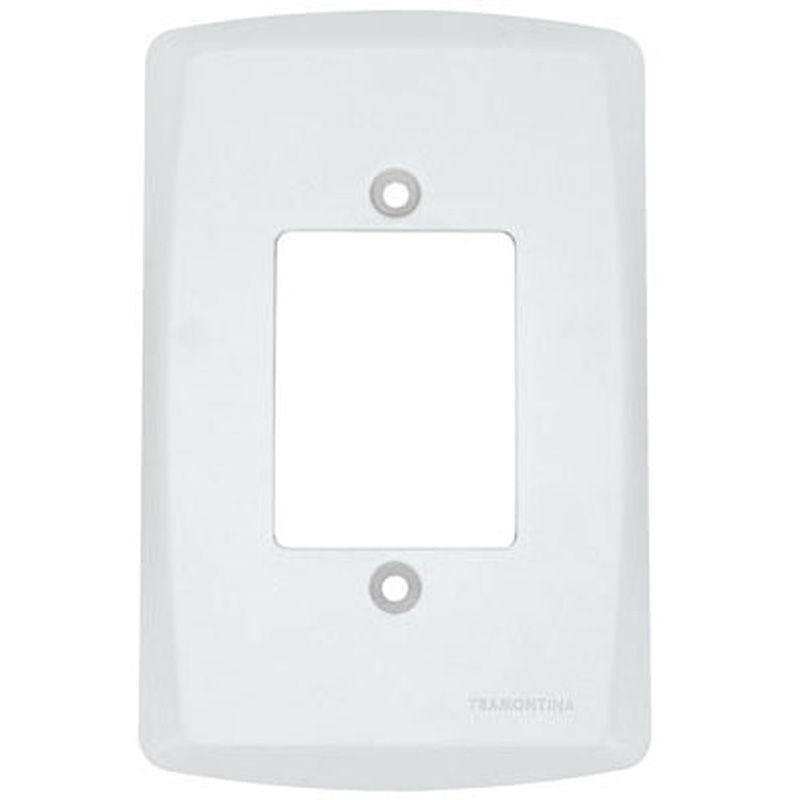 Placa 4X2 Branca em Plástico Abs. Tramontina