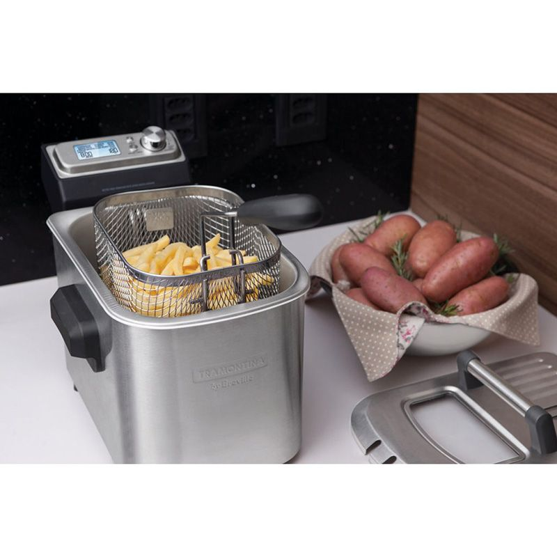 Fritadeira Elétrica Smart em Aço Inox 4 Litros 110V  by Breville Tramontina