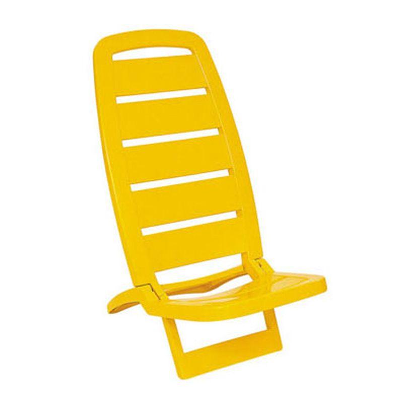 Cadeira Plástica de Praia Guarujá Amarela Basic Tramontina