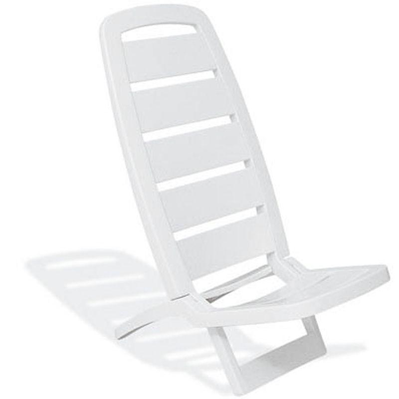Cadeira Plástica de Praia Guarujá Branca Basic Tramontina
