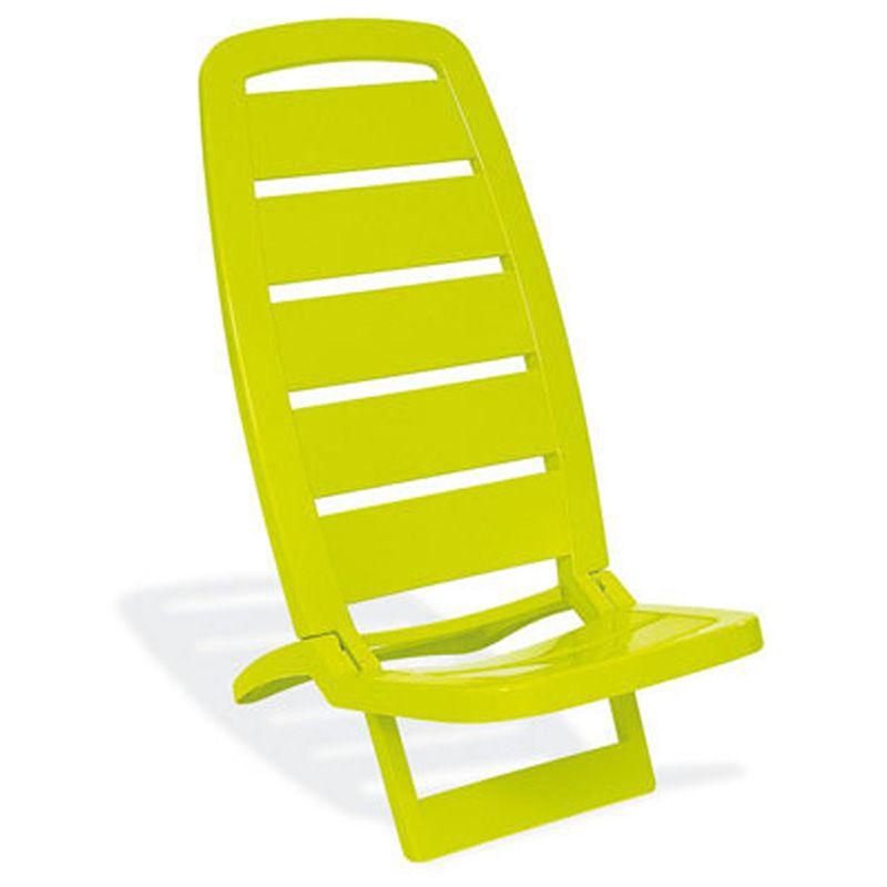 Cadeira Plástica de Praia Guarujá Verde Basic Tramontina