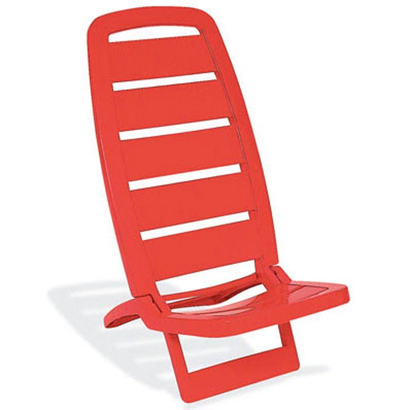 Cadeira Plástica de Praia Guarujá Vermelha Basic Tramontina