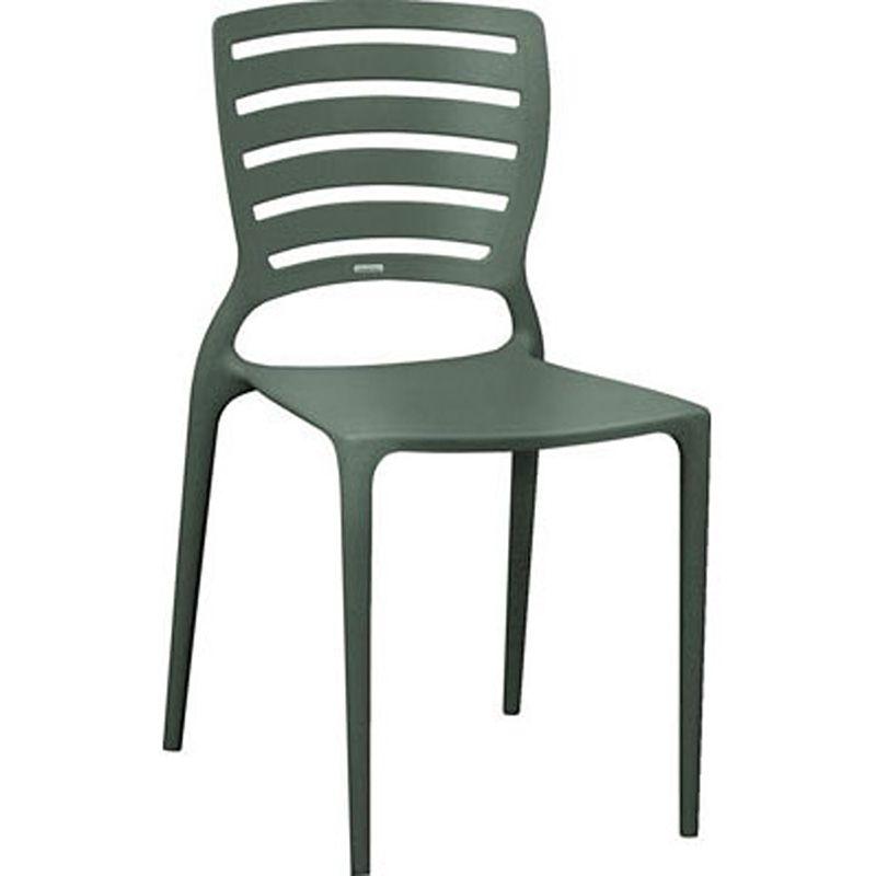 Cadeira Sofia Com Encosto Vazado Grafite Summa Tramontina