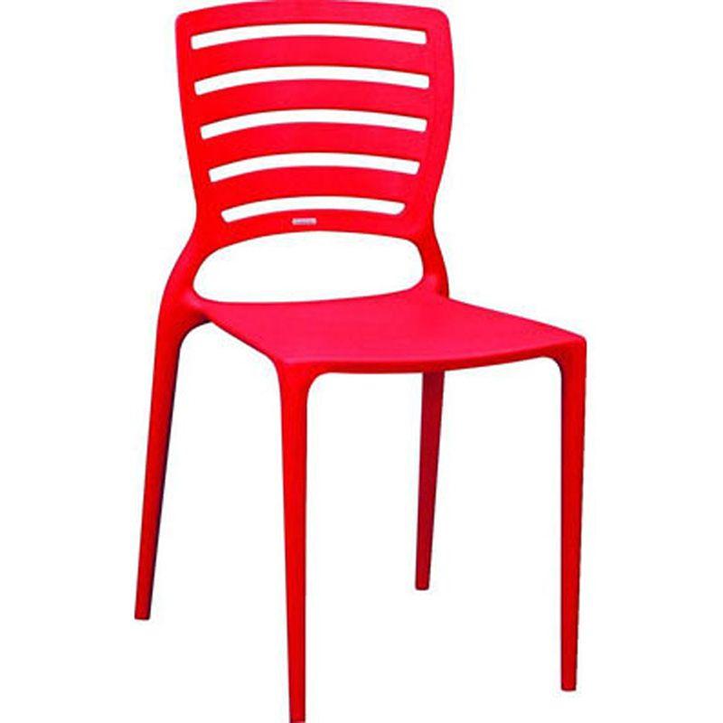 Cadeira Sofia Com Encosto Vazado Vermelha Summa Tramontina